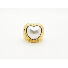 Anillo Corazón perla y Oro...