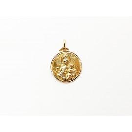 Medalla Cristo y Virgen de...
