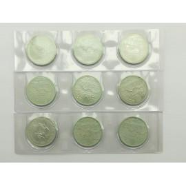9 Monedas Plata 2000...