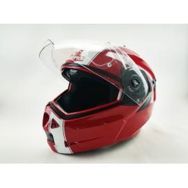 Casco de moto CABERG Rojo y...
