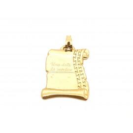 Colgante pergamino de Oro...