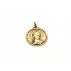 Medalla de Oro Virgen 18 KT...