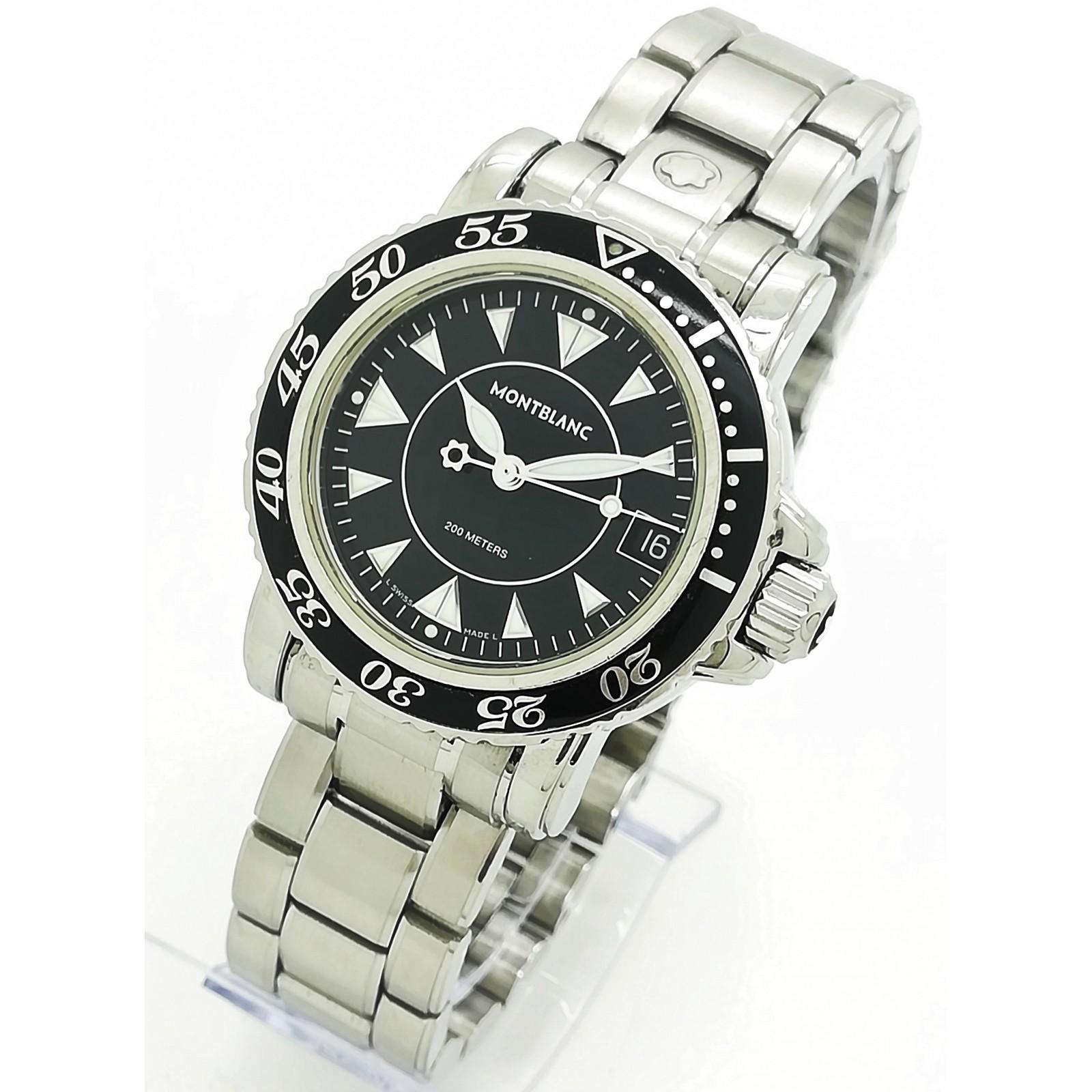 Reloj de Cuarzo MONTBLANC Meisterstück Sport Diver 200m 7036 - Unisex 34mm - Con estuche de segunda mano