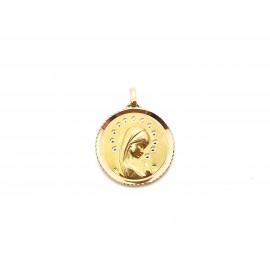 Medalla con Virgen de Oro...