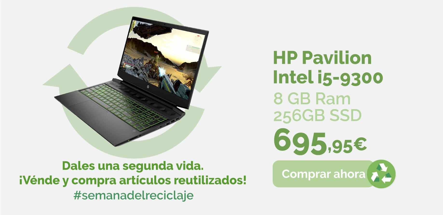 Portátil HP Pavilion Intel i5-9300 8GB ram 256GB SSD GTX 1050 15-DK000NS