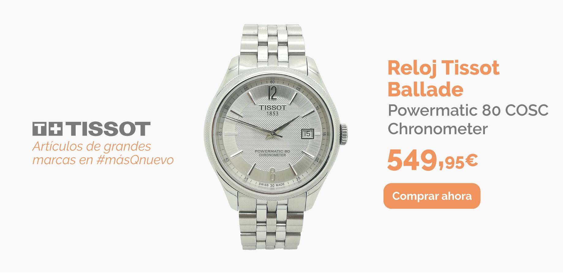 Reloj Automático TISSOT Ballade Powermatic 80 COSC Chronometer con caja y papeles T108408 A de segunda mano