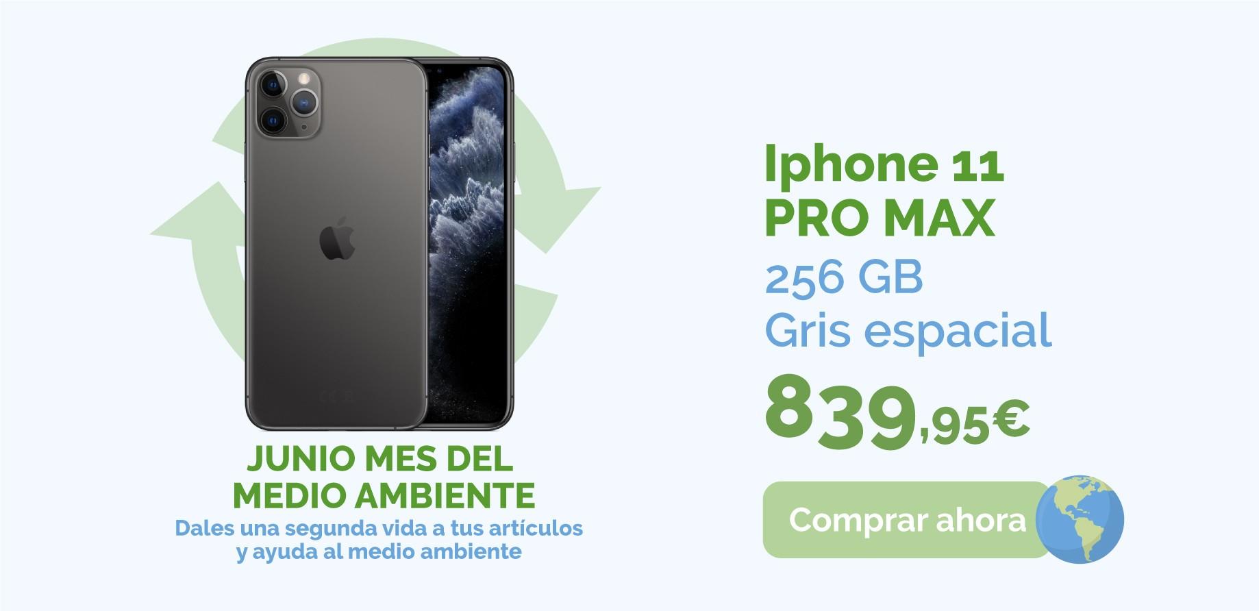 iPhone 11 Pro Max 256GB gris espacial de segunda mano