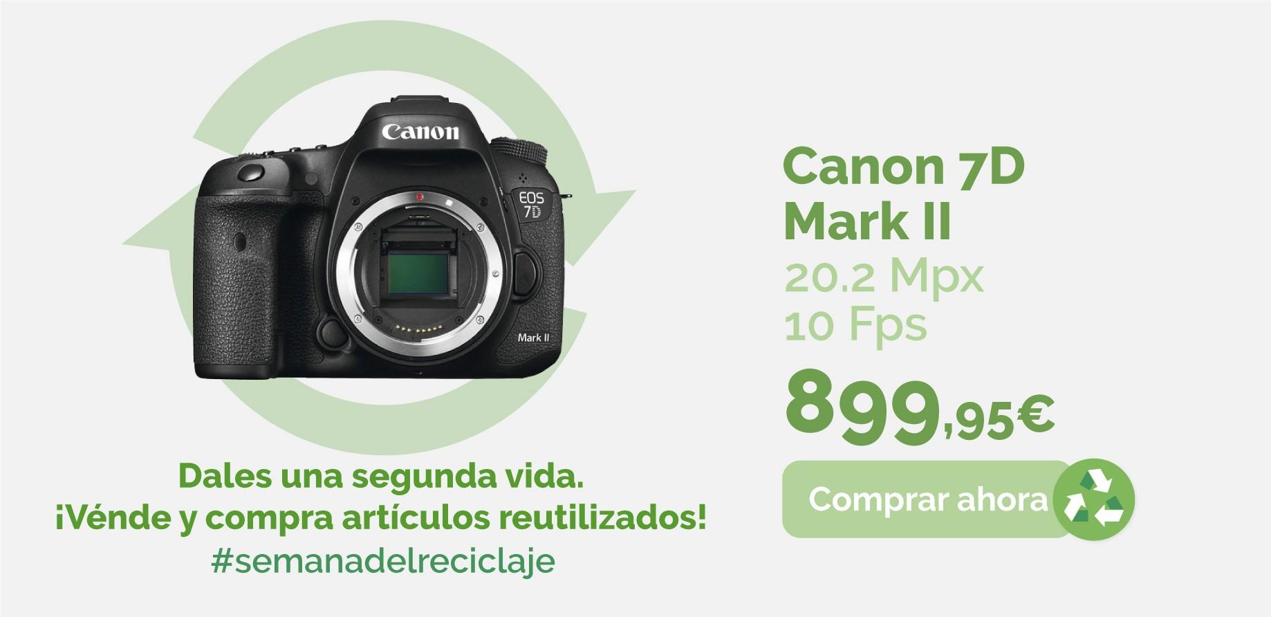 Cámara Canon 7D Mark II de segunda mano