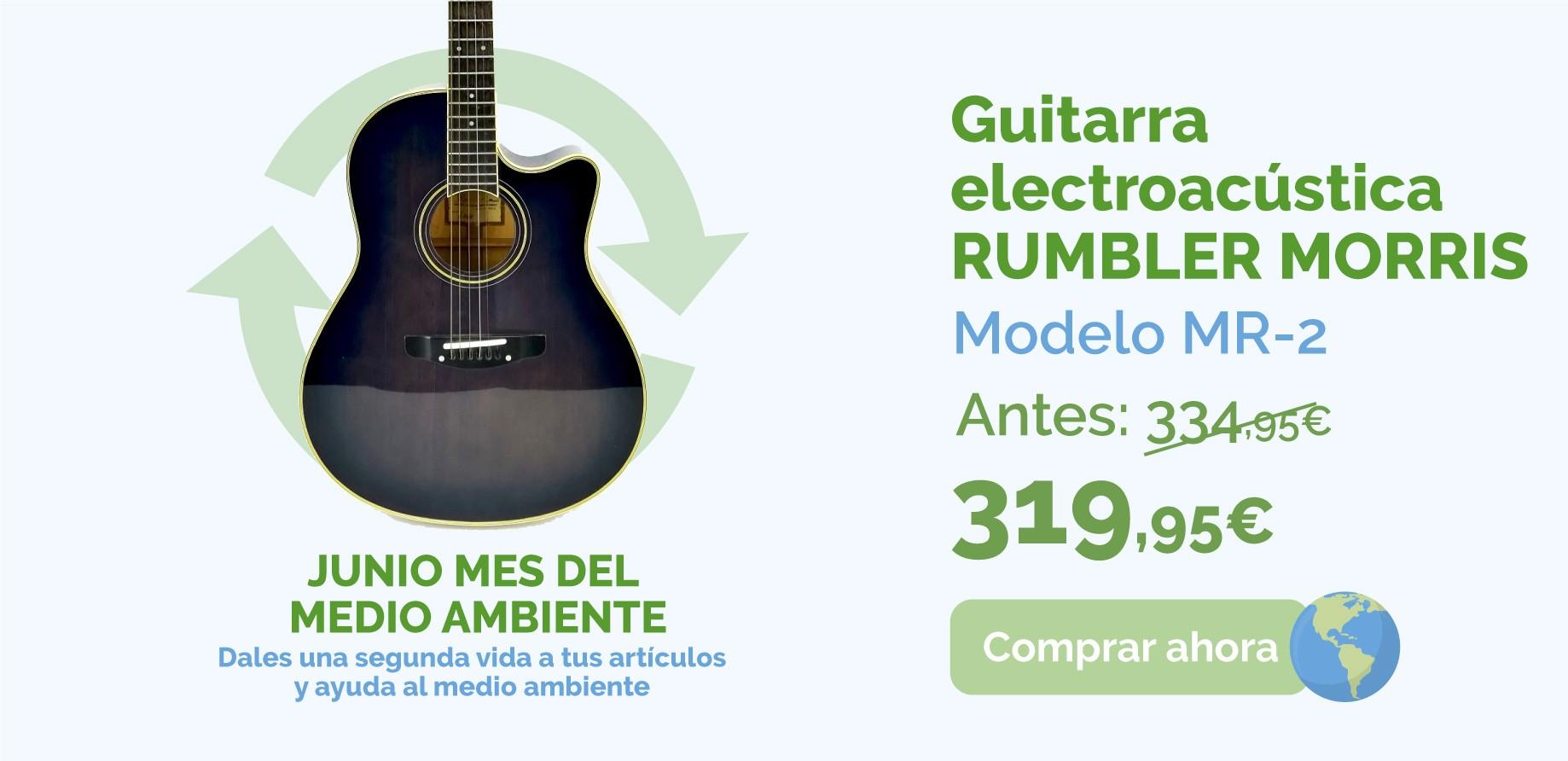 GUITARRA ELECTROACUSTICA RUMBLER MORRIS MOD MR-2 de segunda mano